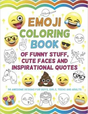 Emoji Coloring Book for kids makes a great stocking stuffer for girls!