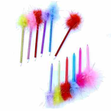 Feather pens make a great stocking stuffer for girls.