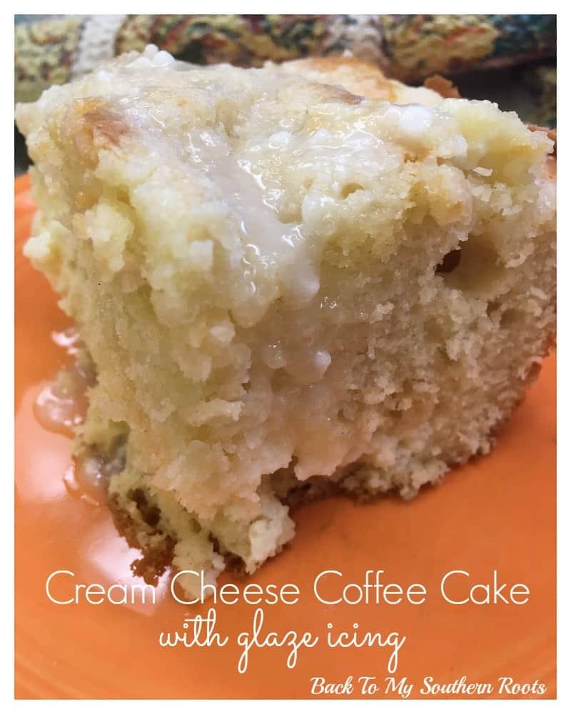 Cream Cheese Coffee Cake with Glaze Icing