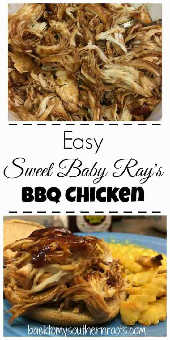 If you're looking for an easy meal for dinner, Sweet Baby Ray's BBQ Chicken is the way to go. Click on the pin and grab the recipe today.