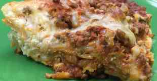 Cheap Hearty Homemade Beef Lasagna