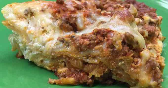 Cheap Hearty Homemade Beef Lasagna