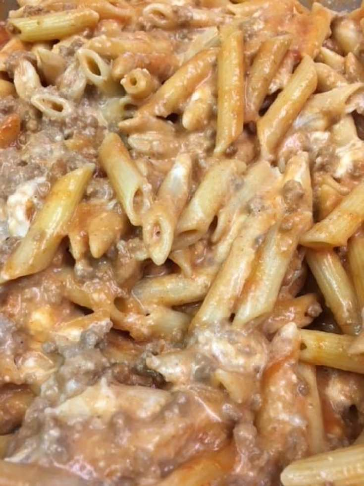 Easy Ground Beef Penne Pasta is a delicious meal that's filling for the entire family, with plenty of leftovers.