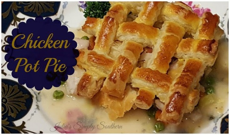 Chicken Pot Pie - Individual Puff Pastry Crust Topper - Julia's Simply Southern 2017