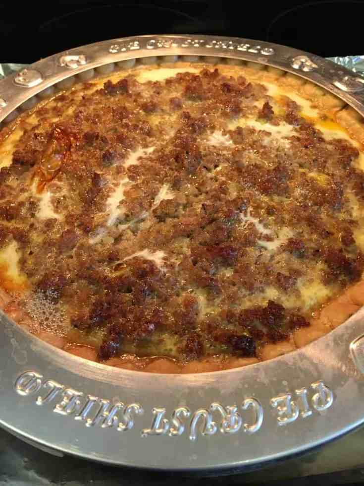 I love this recipe for Easy Southern Sausage Quiche. It's a filling meal that will work great on Thanksgiving or Christmas morning.