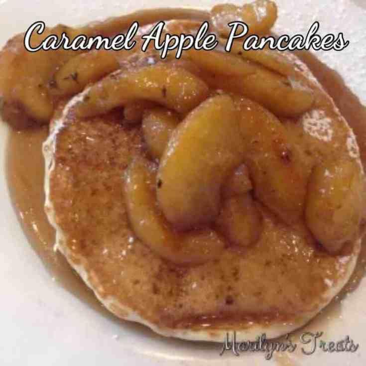 Baked Caramel Apple Pancakes