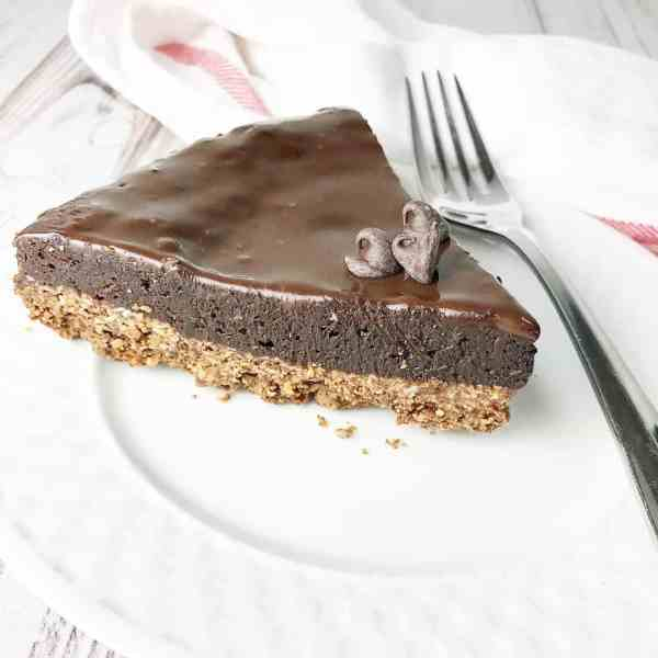 Flourless Chocolate Cake with Granola Crust - Kelly Lynn's Sweets and Treats