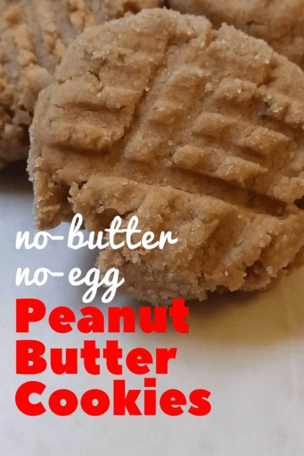 Perfect No-Butter No-Egg Peanut Butter Cookies - Hardly A Goddess