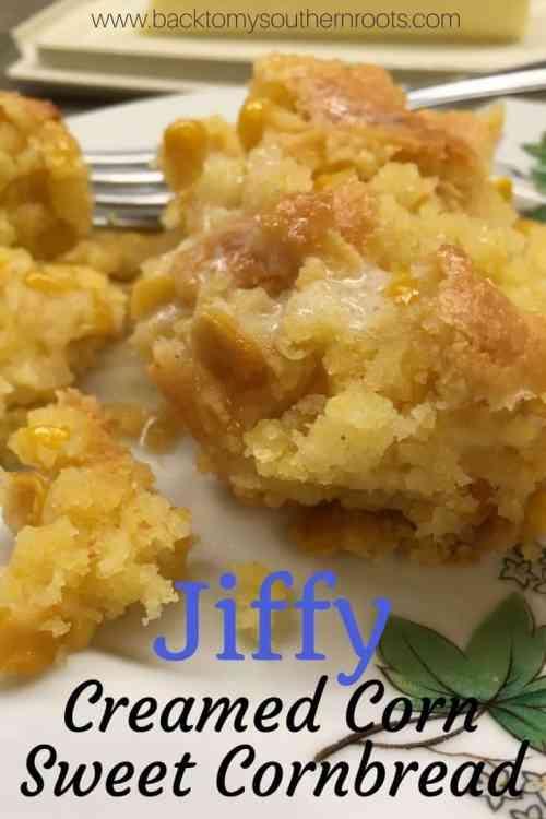 Jiffy Creamed Corn Sweet Cornbead
