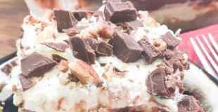 Chocolate Layer Dessert with Homemade Whipped Cream