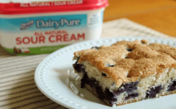 Blueberry Sour Cream Cake - My Mommy World