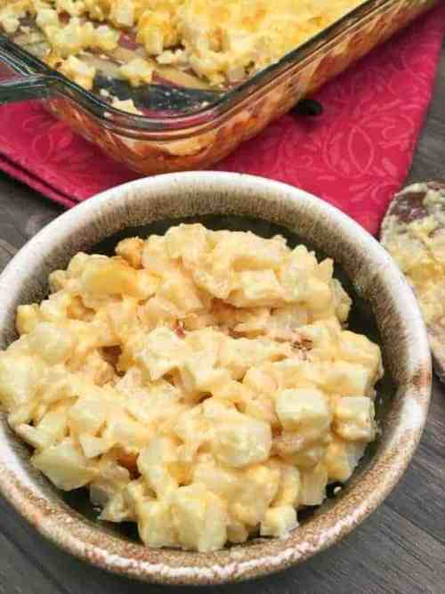 Cheesy Diced Baked Potatoes go great with any meal, including holiday meals. The potato recipe makes a great side dish at Easter, Christmas, Thanksgiving, or any holiday.