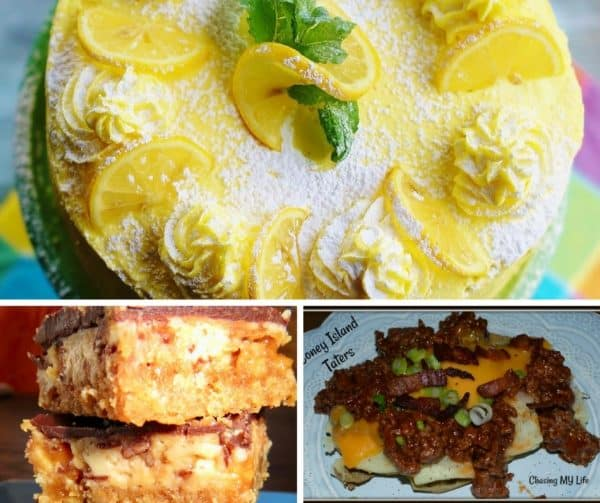 Foodie Friday Link Party #32 features recipes from around the web. Desserts, side dishes, dinner, and breakfast are featured.