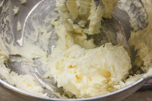 Sweetened Condensed Milk Recipes - creaming the butter.