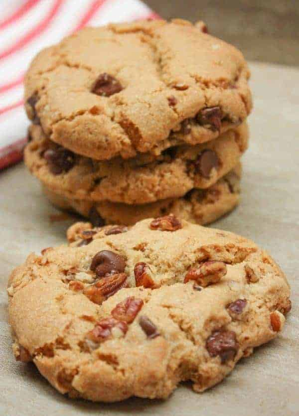 Chocolate Chip Pecan Cookies are a delicious treat any time of year, including the holidays and Christmas