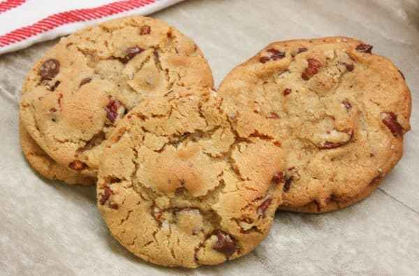 Easy baked pecan and chocolate chip cookie recipe for the holidays.