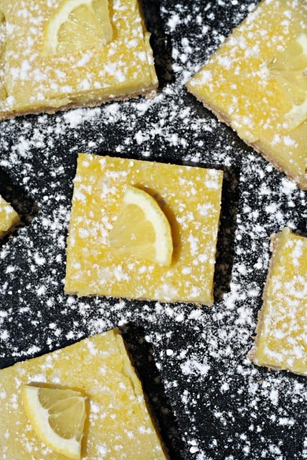 Lemon-Bars, tart, tangy, and only 69 calories from Looney for Food