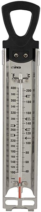 Winco Deep Fry/Candy Thermometer with Hanging Ring, 2-Inch by 11-3/4-Inch