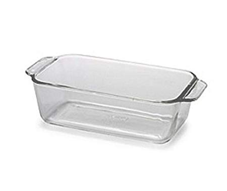 Pyrex Bakeware 1-1/2-Quart Loaf Dish, Clear
