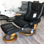 Stressless Wing Paloma Black Leather Recliner Chair And Ottoman By Ekornes Stressless Wing Paloma Black Leather Chairs Recliners