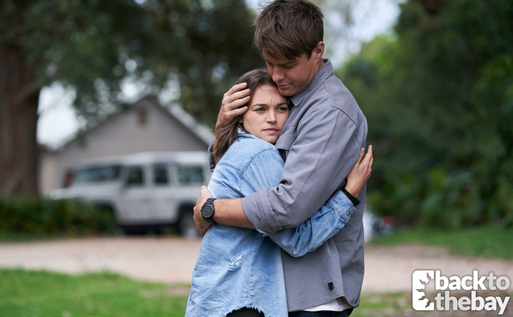 Colby hugging Bella goodbye as he left her at a psychiatric treatment retreat
