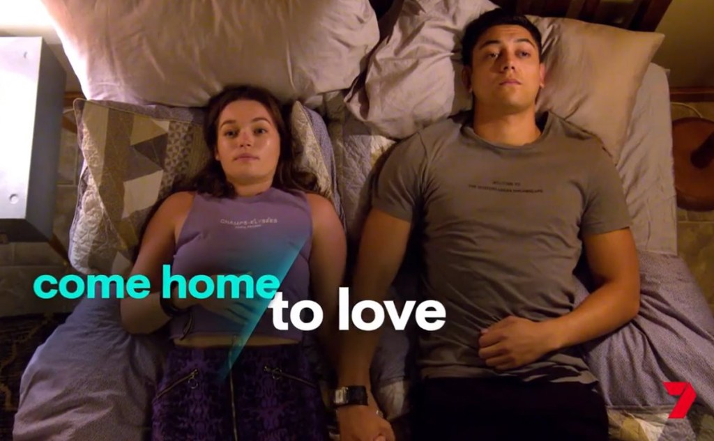 The new 'Home and Away' promo teases 'Come home to love', with Bella and Nik in bed together