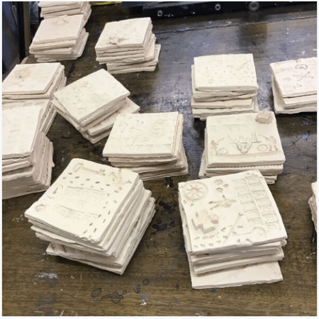 First batch of Clay Tiles fired