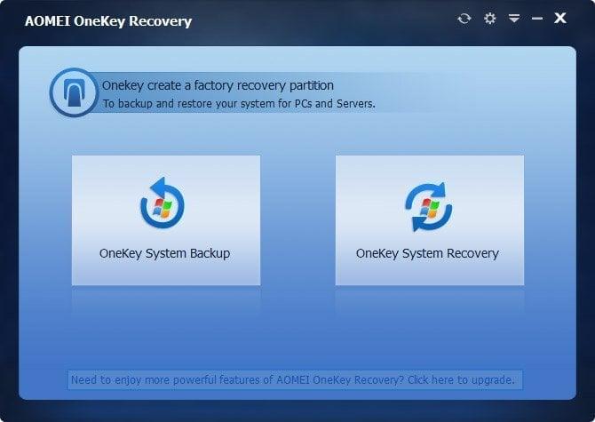 Resultado de imagen de AOMEI OneKey Recovery Professional 1