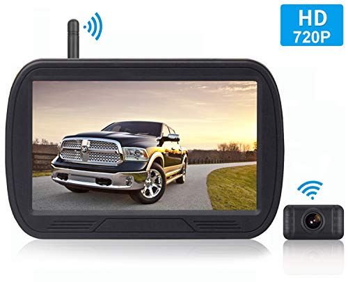 RV IP69K Waterproof Wireless Rear View Camera Horse-Trailer Trucks Farm Machine,etc Wireless Backup Camera System 5/'/' LCD Wireless Reversing Monitor for Trailer School Bus