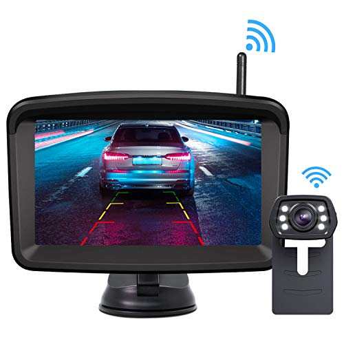 GOQO TOMO E-600 5.8G Wireless Color Video Transmitter and Receiver Long Range Kit for The Vehicle Backup Camera and Car Rear View Parking Monitor