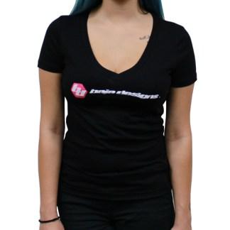 Baja Designs Black Ladies V Neck T Shirt Medium Baja Designs