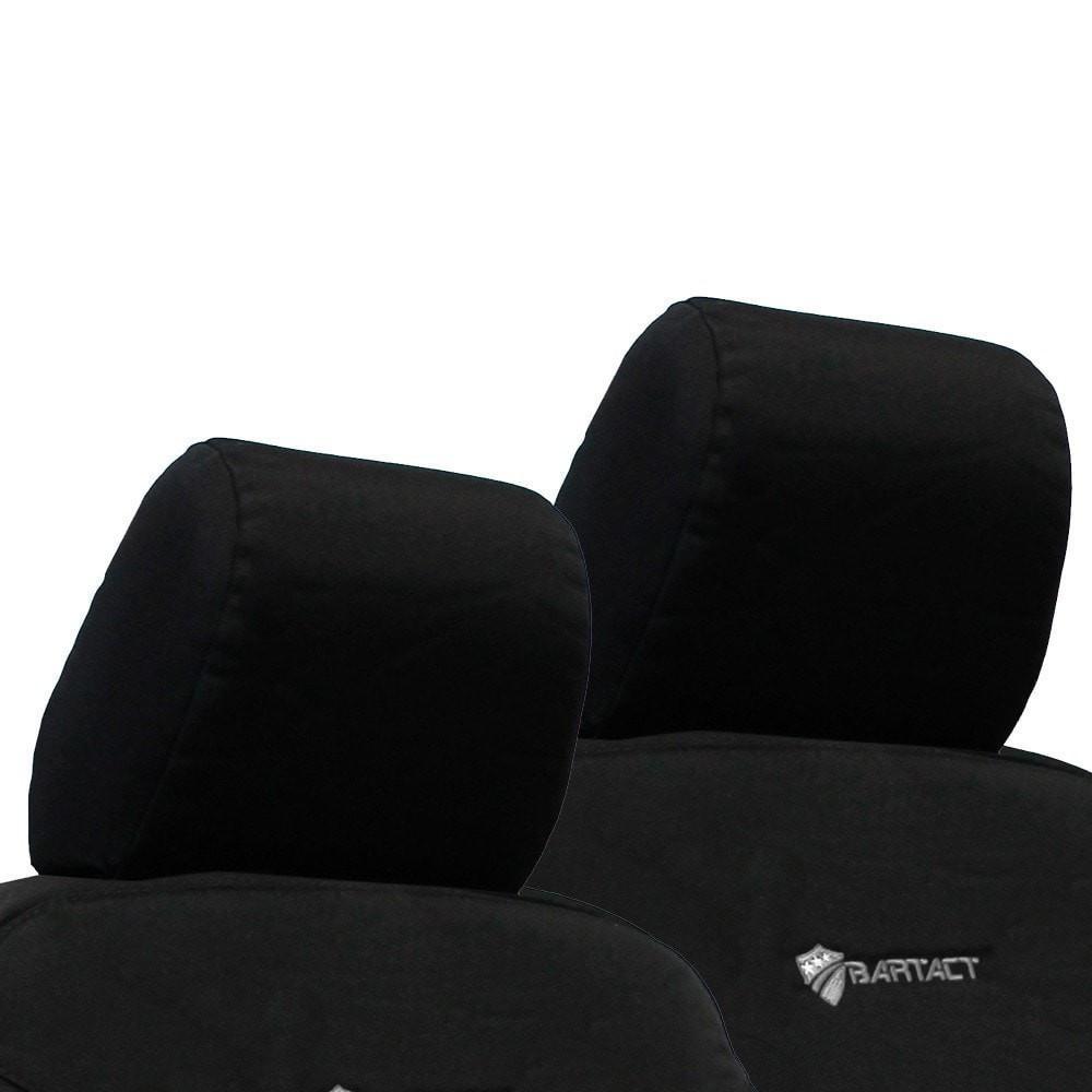 Jeep JK Front Headrest Covers 07-10 Wrangler JK 2 Door Tactical Series Black Bartact