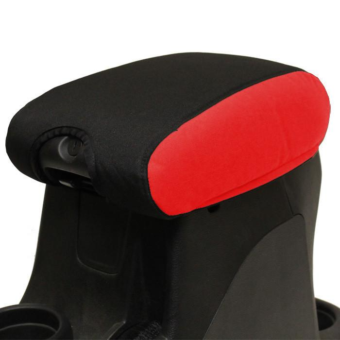 Jeep Center Console Cover Padded 11-17 Wrangler JK/JKU Red/Black Bartact