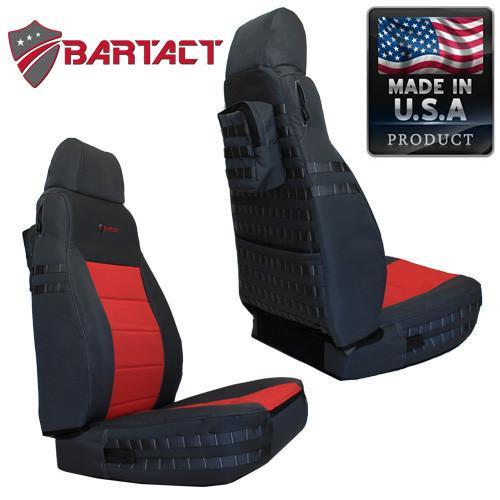 Jeep TJ Seat Covers Front 03-06 Wrangler TJ Tactical Series Graphite/Coyote Bartact