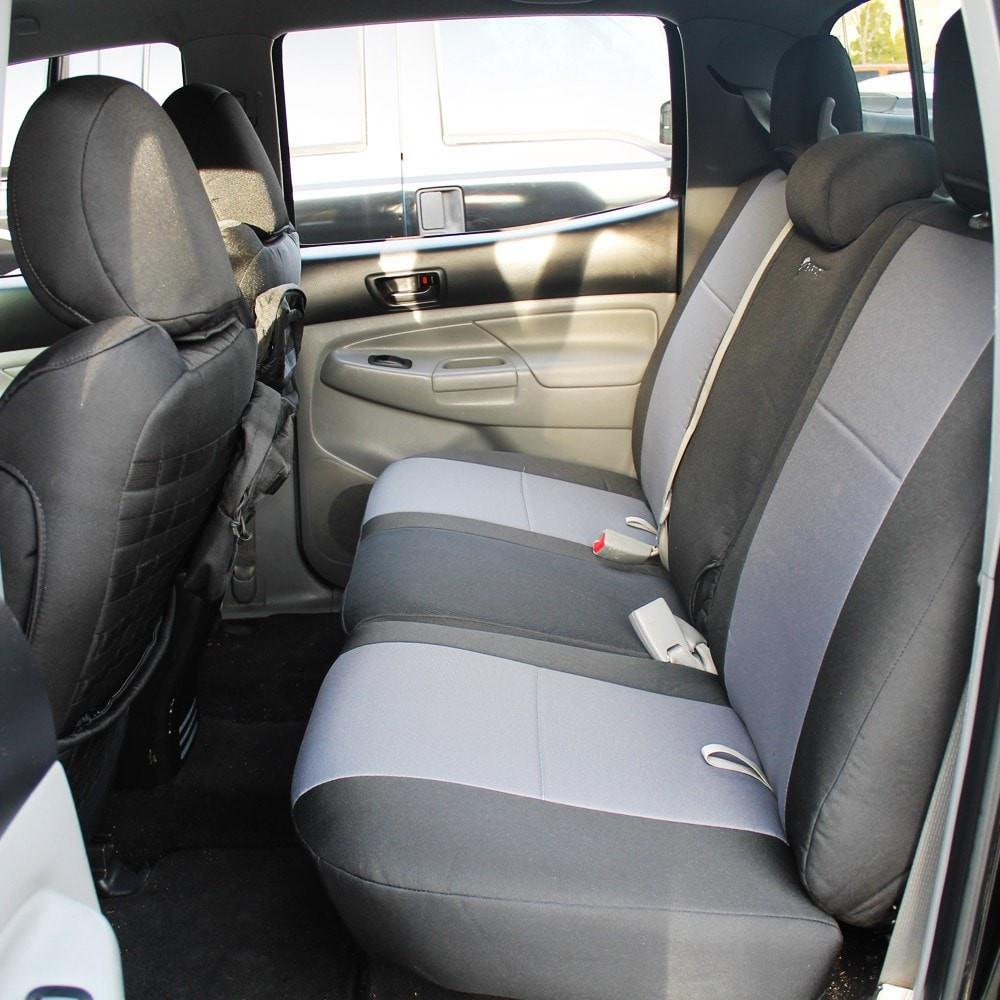 Toyota Tacoma Bench Seat Covers Rear Bench 09-15 Tacoma Double Cab Standard And TRD Graphite/Orange Bartact