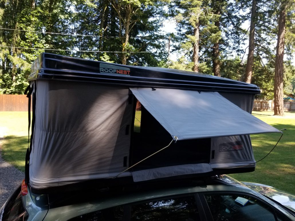Roof Top Tent Eagle 81 X 55 W/Ladder And Mattress White Roofnest & Roof Top Tent Eagle 81 X 55 W/Ladder And Mattress White Roofnest ...