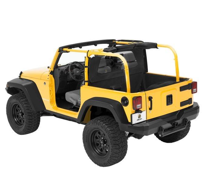 Jeep JK Windjammer Wind Screen 07 17 Jeep Wrangler JK 2 Door Black Diamond