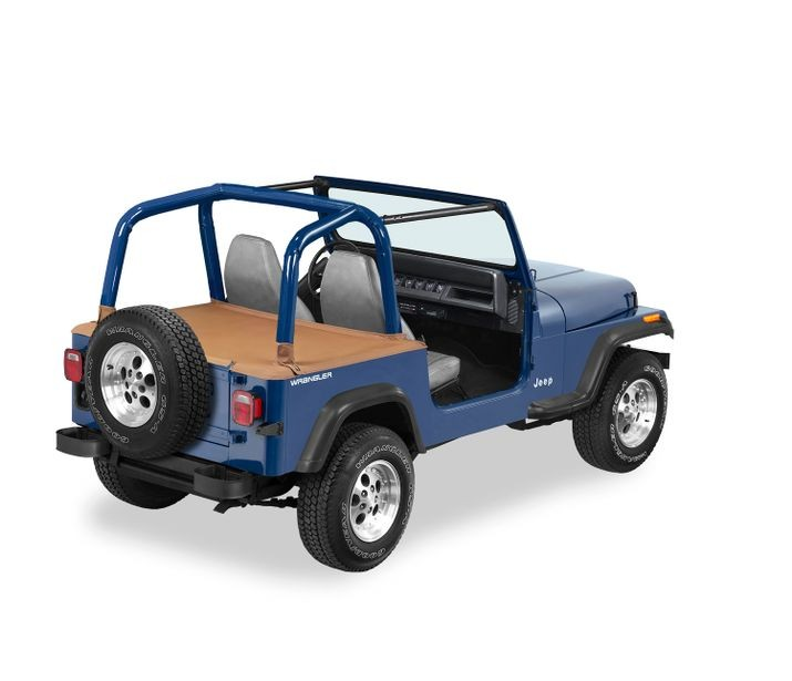 Jeep YJ Duster Deck Cover w/Supertop Bow Folded Down 92-95 Jeep YJ Wrangler Spice Bestop