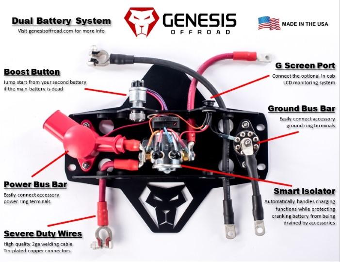 universal dual battery kit 200 amp isolator genesis. Black Bedroom Furniture Sets. Home Design Ideas