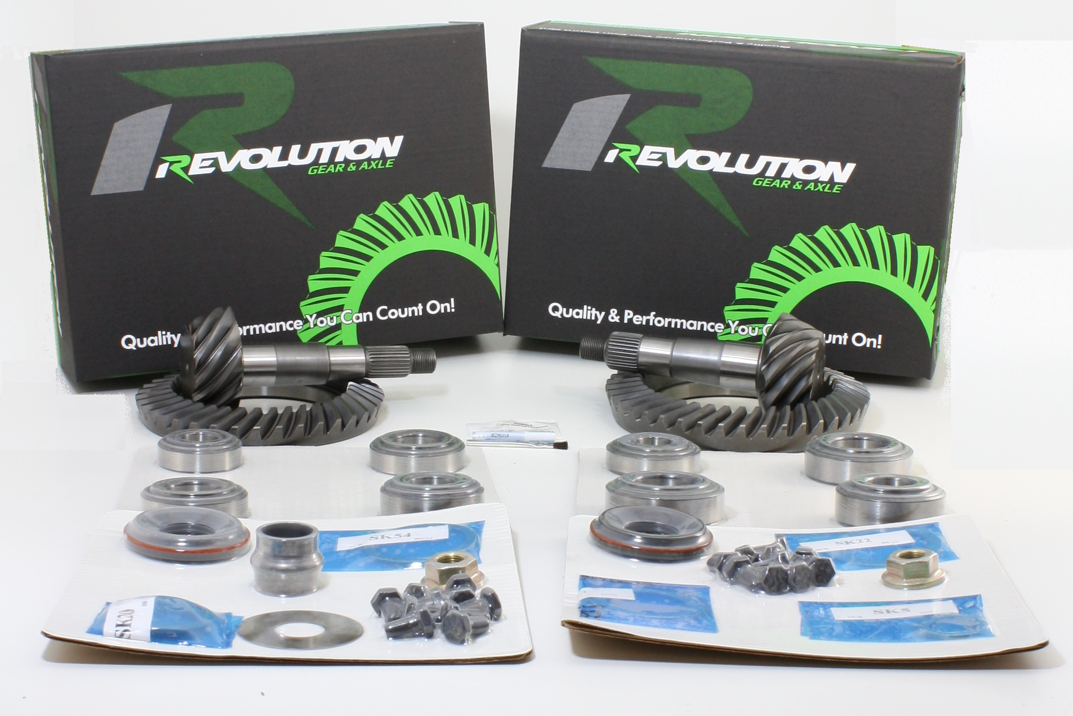 Toyota w/o factory locker 07-09 FJ 05 and Up Tacoma 03-08 4runner (8/8ifs) 4.56 Gear Package front and rear gears and master kits (thick front gear to fit 3.73 and down case) Revolution Gear