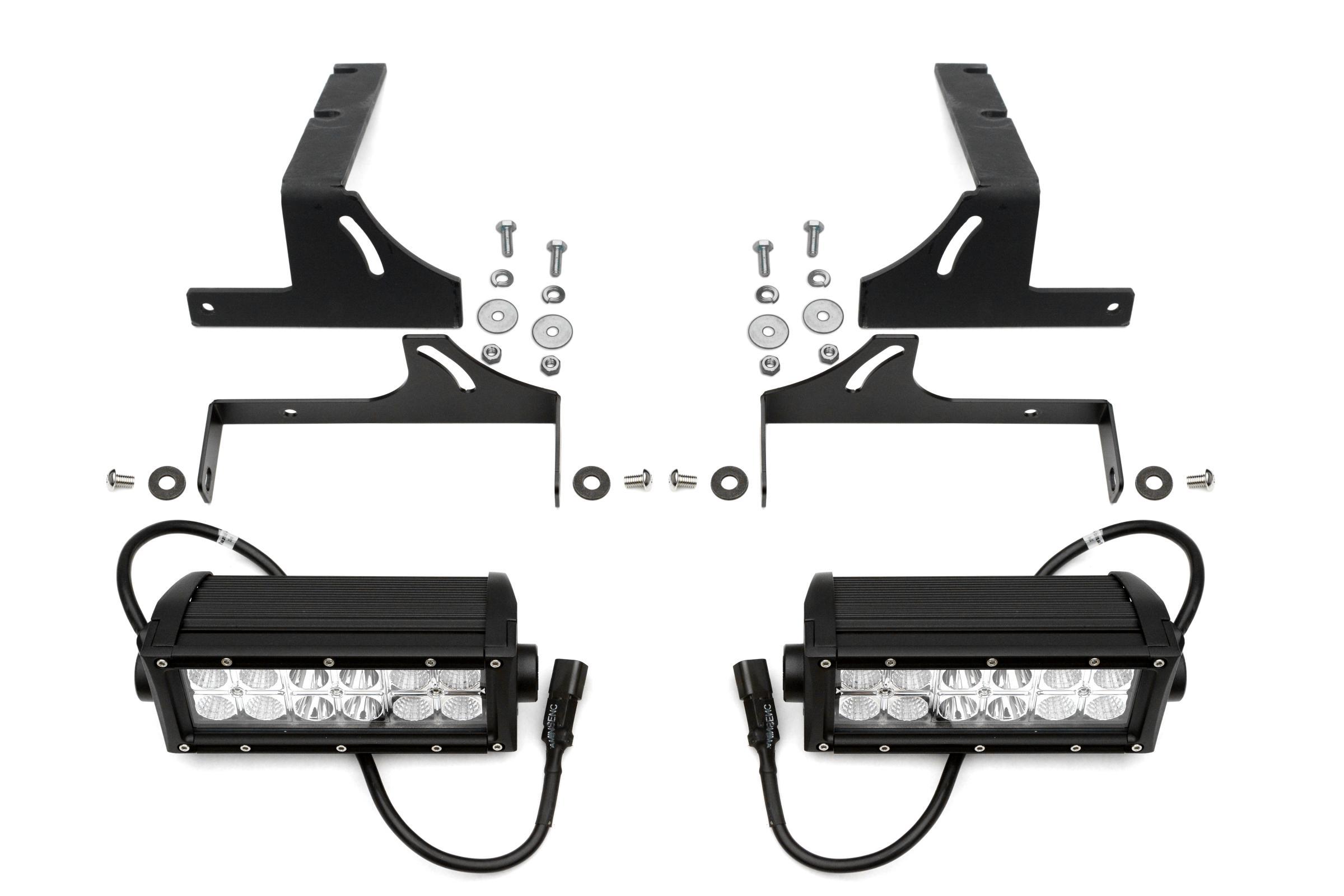 Rear Bumper Frame Led Light Bar Mount Kit 2005 2015 Tacoma Swivel Wiring For Adjustments W