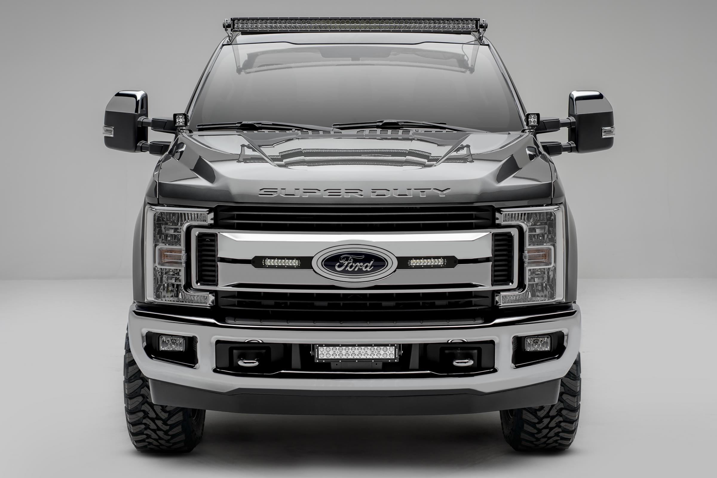 Oem grille led light bar mounts black 2017 ford f 250350 includes oem grille led light bar mounts black 2017 ford f 250350 includes two mozeypictures Choice Image