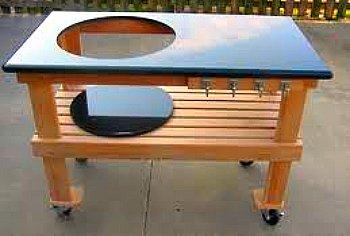 big green egg table plans ideas