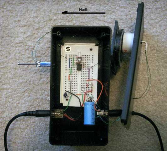 Magnetometer breadboard circuit