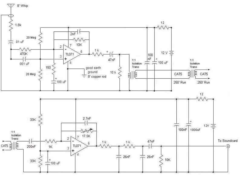 Schematic of VLF receiver