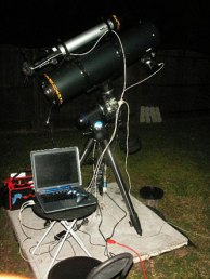 "Orion 8"" reflector, Meade 80mm guidescope and Orion EQ-G mount setup"
