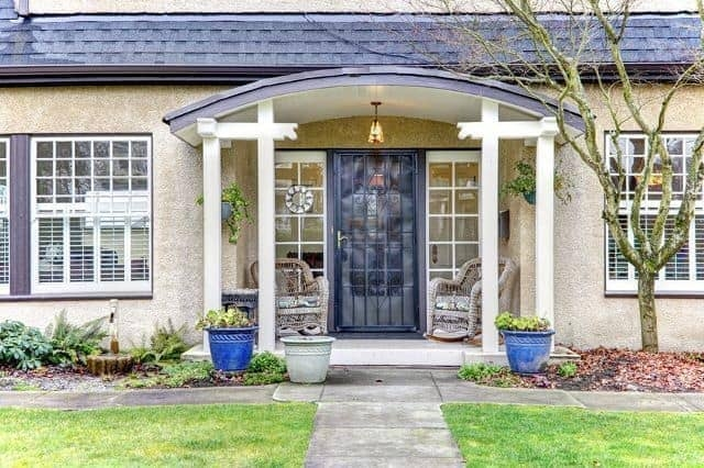 71 Front Porch Designs And Ideas For Breathtaking Entryways | Brick Front Step Designs | Patio | Entry | Front Entrance Front Porch Wall Tile | Raised Front | Bluestone Treads 24 Inch Rise