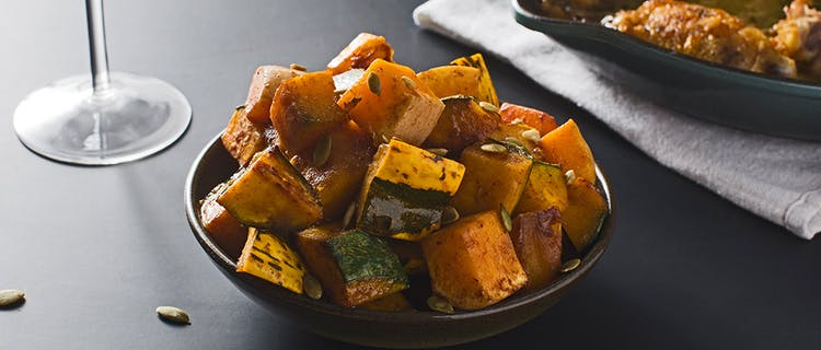Maple and Spice-Roasted Winter Squash tasting table