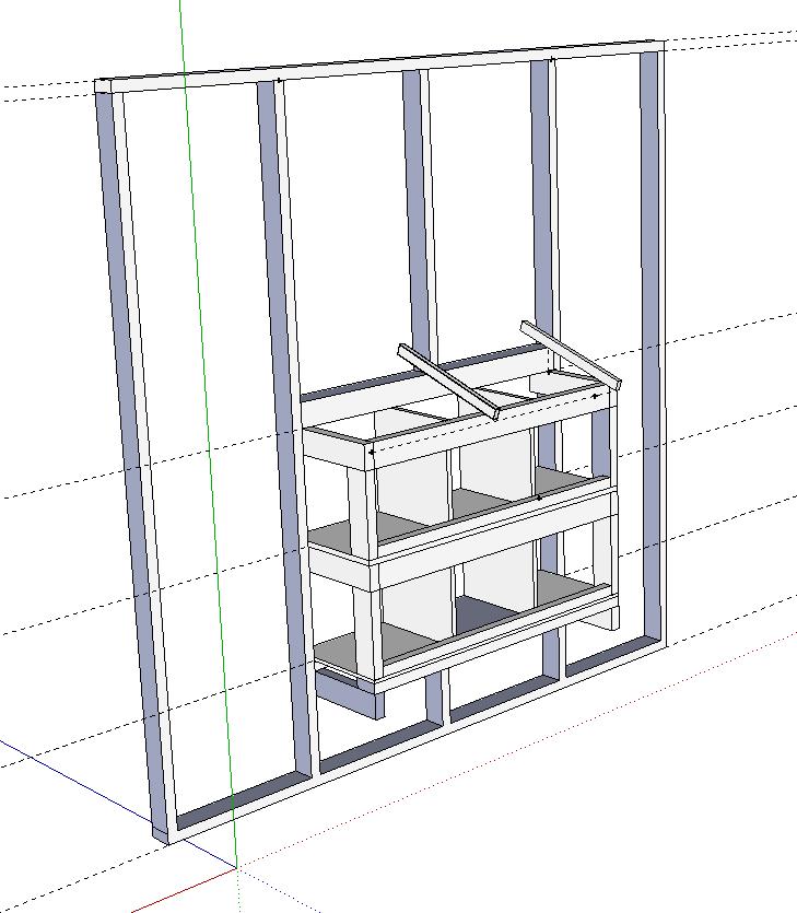 Nesting box design on Google SketchUp   BackYard Chickens on Sketchup Backyard id=65057