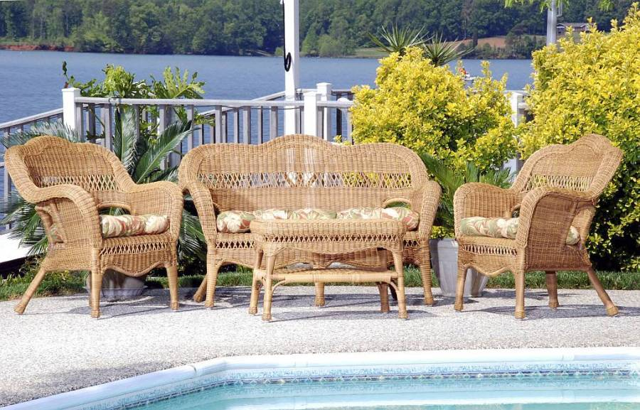 Sahara All Weather Resin Wicker Furniture Set   CDI 001 S 4 Sahara All Weather Resin Wicker Furniture Set  Click to Enlarge